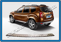 Накладка на задний бампер (нерж.) Dacia Duster