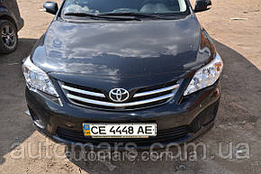 Накладки на решетку радиатора (нерж.) Toyota Corolla (2010+)
