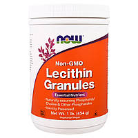 Лецитин в гранулах, 454 г без ГМО, Lecithin, Now Foods