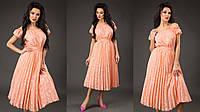 Платье юбка плиссе в расцветках 16924