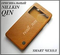 Коричневый чехол книжка для Xiaomi Mi5s, чехол Nillkin QIN Leather эко кожа