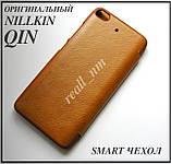Коричневый чехол книжка для Xiaomi Mi5s, чехол Nillkin QIN Leather эко кожа, фото 2
