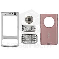 Корпус для мобильного телефона Nokia N95 2Gb, high-copy, розовый, с клавиатурой
