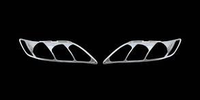 Toyota Camry Накладки на фары (АБС, хром)