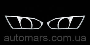 Oktavia A5 Накладки на фары (АБС, хром)