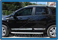 Накладки на молдинг дверной Nissan Qashqai (4 шт.)