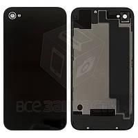 Задняя панель корпуса для мобильного телефона Apple iPhone 4S, черная, с компонентами, high copy