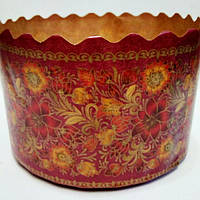 Бумажная форма для выпечки Пасхи, итальянская бумага,(13х8.5см)