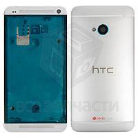 Корпус для мобильного телефона HTC One M7 Dual Sim 802w , серебристый