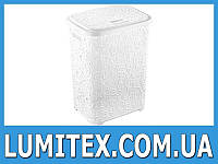 Корзина пластиковая для белья в ванную Ажур белая