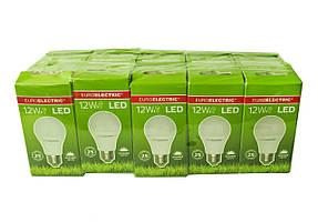 LED Лампа Euroelectric A60 12W E27 4000К (упаковка 10шт)