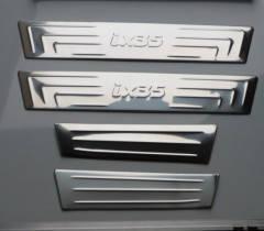 Накладки на пороги нерж (4шт) Hyundai iX 35