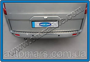Накладка на задний бампер Ford Tourneo Custom (Omsa) глянец