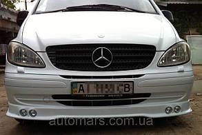 Накладка на передній бампер (4 фари) Mercedes Vito W639