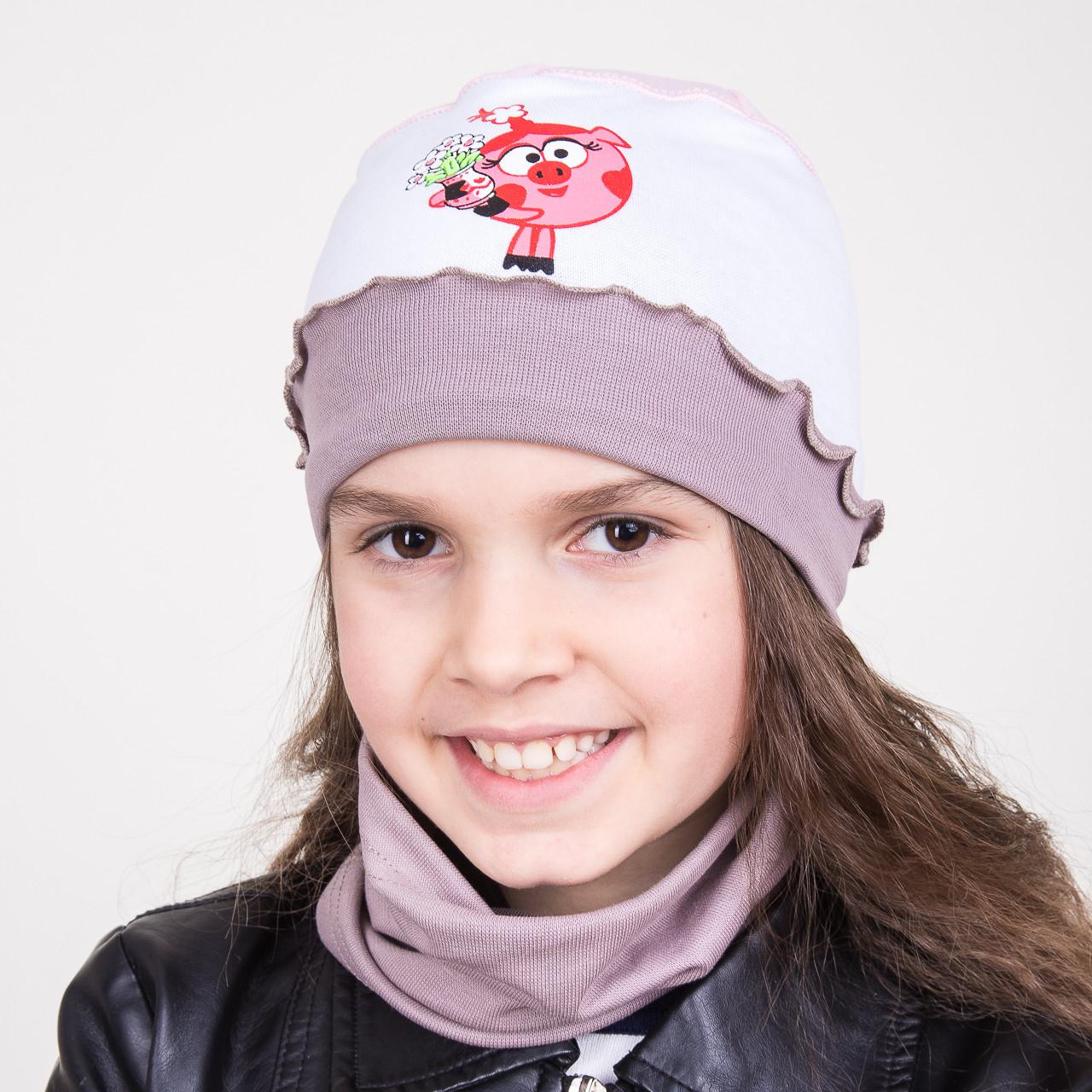 Шапочка для маленьких девочек на весну 2018 - Пеппа