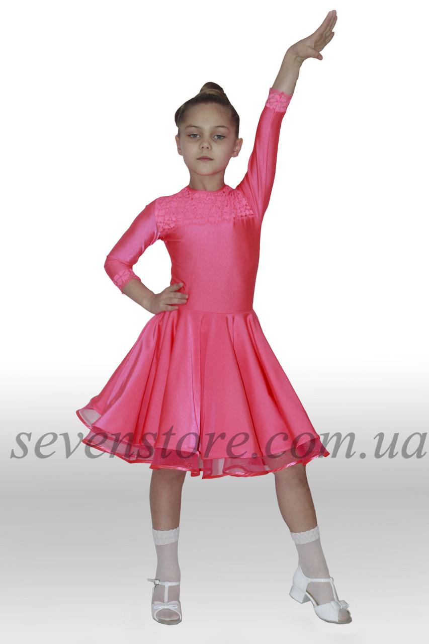Рейтингове сукні Бейсік для бальних танців Sevenstore 9103 Кораловий