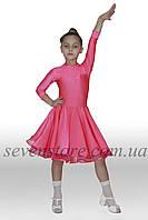 Рейтинговое платья бэйсик для бальных танцев Sevenstore 9103 Коралловый