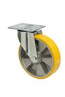 """Колесо поворотное """"Norma"""" с крепёжной панелью,диаметр -160мм"""
