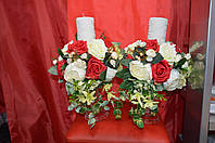 Свечи венчальные на хрустальной подставке