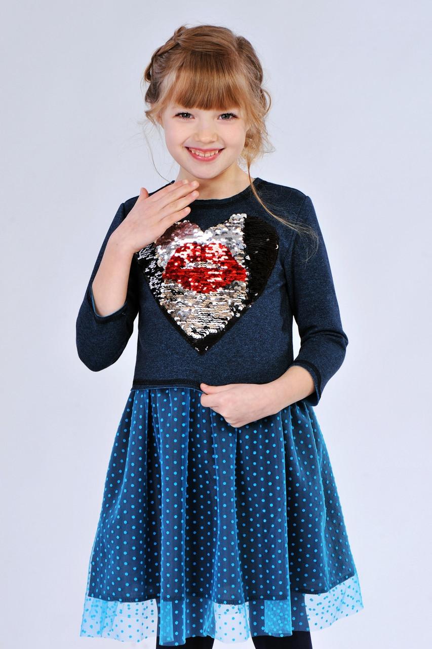 Платье с паетками для девочки купить