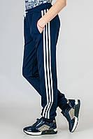 Детские спортивные штаны для мальчиков трикотажные брюки на резинке (манжет) Украина 140