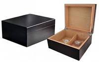 Хьюмидор 09427 для 25 сигар, черный, кедр, 26x22x11.5 см