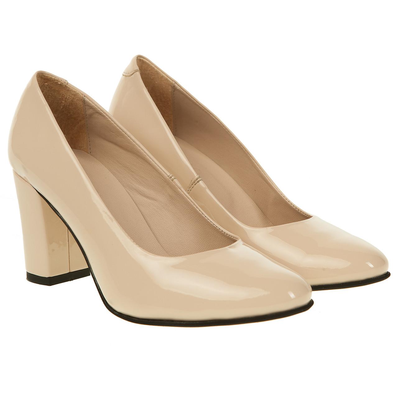 Туфли Capriccio (классические, бежевые, на широком каблуке, элегантные)