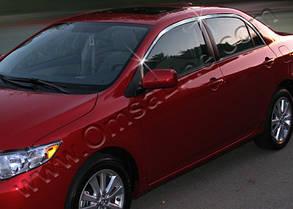Верхняя окантовка стёкол Toyota Corolla (2007+)
