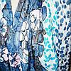 Шарф жатка синий с косичками , фото 2