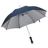 Синий зонт-трость, механический, рекламный, качественный, под нанесение логотипов