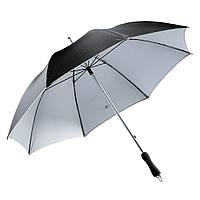 Чёрный зонт-трость, механический, рекламный, качественный, под нанесение логотипов, фото 1