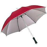 Красный зонт-трость, механический, рекламный, качественный, под нанесение логотипов