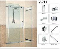 Комплект для раздвижной перегородки в душ угловая