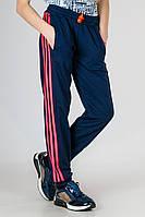 Детские спортивные штаны для девочек брюки трикотажные с лампасами на резинке (манжет) Украина