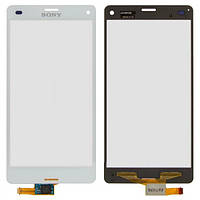 Сенсор (тачскрин) для Sony D5803 Xperia Z3 Compact Mini, D5833 Xperia Z3 Compact Mini белый Оригинал