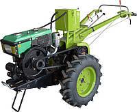 Мотоблок Фермер 8Е (дизель, 8 л.с., электростартер, водяное охл., комплект фреза+плуг) Бесплатная доставка