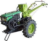 Мотоблок Фермер 10Е (дизель, 10 л.с., электростартер, водяное охлаждение, к-т фреза+плуг) Бесплатная доставка