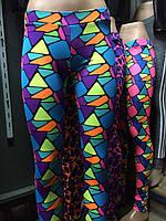 Спортивные яркие стильные женские лосины Большой выбор , фото 1
