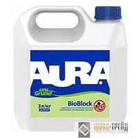 TM AURA Unigrund BioBlock - УКРЕПЛЯЮЩИЙ АНТИПЛЕСНЕВЫЙ ГРУНТ ( TM Аура Биоблок)  , 3л