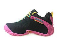 Кроссовки женские Merrell Continuum Goretex Black Pink (в стиле Меррел) черные