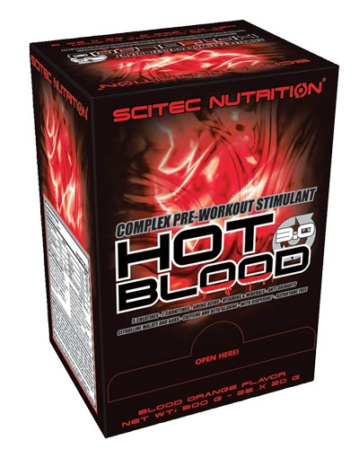 Scitec Nutrition Hot Blood 3.0 BOX 20g x 25pak