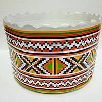 Бумажная форма для выпечки пасхи, белая, (13х8.5см)