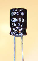 4,7мкф-250v (105°C) <RD> 8*11,5 SAMWHA