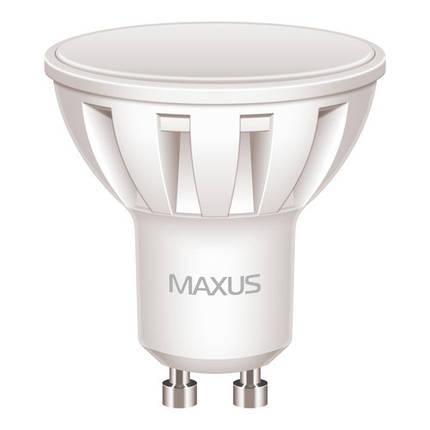 Лампа MAXUS MR16 5W 4100K 220V GU10 AL, фото 2