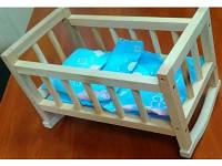 Деревянная кроватка для куклы (бейби борн вмещается) с постелькой