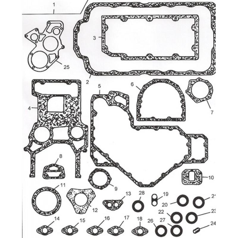 173-9716 Набір прокладок нижній на Caterpilla 3054