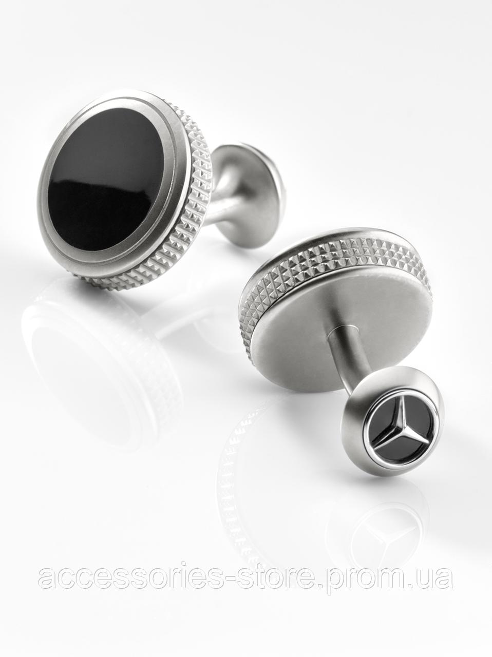 Запонки Mercedes-Benz Cufflinks, Silver / Black