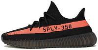 Женские кроссовки Adidas Yeezy Boost 350 V2 Red/Black