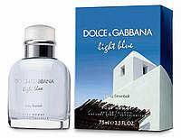 Мужская туалетная вода Dolce & Gabbana Light Blue Living Stromboli  LUX -Лицензия