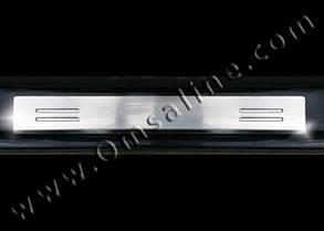 PEUGEOT 207  Накладки на дверные пороги  (нерж.) 2 шт. (купе)